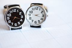 Pair Of Wristwatches Royalty Free Stock Photo