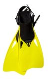 Pair of yellow flippers Royalty Free Stock Photography