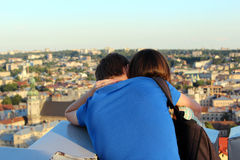 Pair of young enamoured people Stock Photography