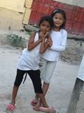 A pair of young Indonesian girls Stock Photo
