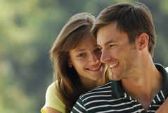 Pair young people Stock Images