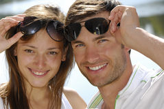 Pair young people Royalty Free Stock Image