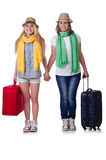 Pair of young students Stock Photos