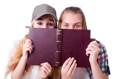 Pair of young students Royalty Free Stock Photography