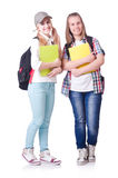 Pair of young students Royalty Free Stock Photos