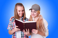Pair of young students Stock Images