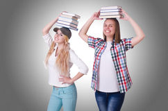 Pair of young students Stock Photo