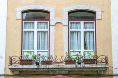 Pair of windows in a house Royalty Free Stock Image