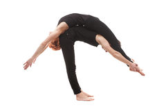 Paired yoga on a white background Royalty Free Stock Image