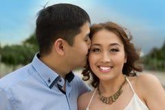 Paires d'Asiatiques d'amants Photo stock