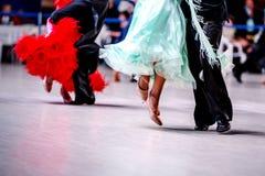 Paires d'athlètes de danseurs photos stock