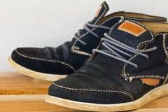 paires d'espadrilles noires de toile Image libre de droits