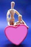 Paires d'exprimer ses poupées d'amour Images stock