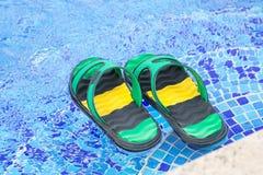 Paires de bascules électroniques dans une piscine bleue Images libres de droits