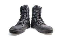 Paires de bottes militaires en cuir photos libres de droits
