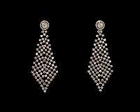 Paires de boucles d'oreille Photo stock