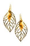 Paires de boucles d'oreille d'isolement Image stock