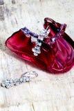 paires de boucles d'oreille d'un argent de mode avec les pierres précieuses Images stock