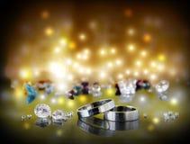Paires de boucles de mariage Images stock