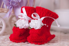 Paires de butins rouges Images stock