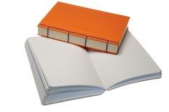 Paires de cahiers blanc Photographie stock