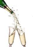 Paires de cannelures de champagne Image libre de droits