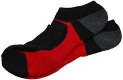 Paires de chaussettes sportives au-dessus de blanc Images libres de droits