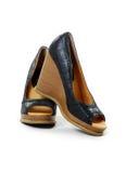 Paires de chaussure de cale de talon haut Image libre de droits
