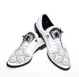 Paires de chaussures confortables à la mode d'oxfords Concept femelle de chaussures Chaussures pour des femmes sur à plat unique  Photographie stock