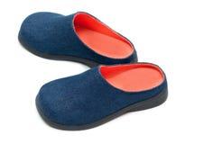 Paires de chaussures de chéri avec la semelle intérieure orange Photographie stock