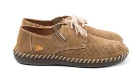 Paires de chaussures de suède Photographie stock libre de droits