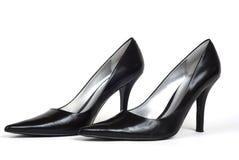 Paires de chaussures du Haut-Talon des femmes de couleur Images libres de droits