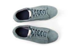 Paires de chaussures du ` s d'homme de suède Photographie stock