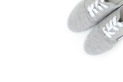 Paires de chaussures grises Images stock