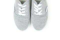 Paires de chaussures grises Photographie stock