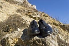 Paires de chaussures noires Photo libre de droits