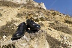 Paires de chaussures noires Images libres de droits