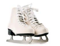 Paires de chiffre patins d'isolement sur le fond blanc Images libres de droits
