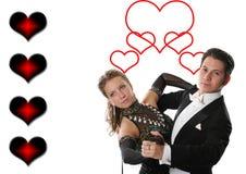 Paires de danse d'amour Images libres de droits