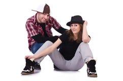 Paires de danse de danseurs Photographie stock