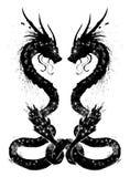 Paires de dragons chinois illustration libre de droits