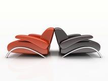 Paires de fauteuils illustration libre de droits