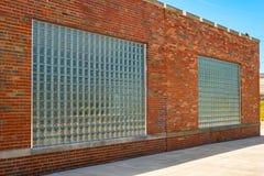 Paires de fenêtres de verre-bloc Image libre de droits