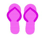 Paires de Flip Flops rose Illustration de vecteur illustration stock
