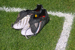 Paires de gaines du football Photo stock