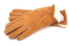 Paires de gants de basane de l'hiver photographie stock