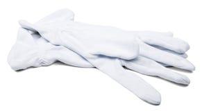 Paires de gants de blanc de maîtres d'hôtel Photographie stock libre de droits