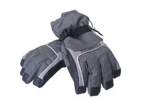 Paires de gants de ski de l'hiver Image libre de droits