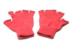 Paires de gants rouges images libres de droits