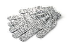 Paires de gants tricotés gris photo libre de droits